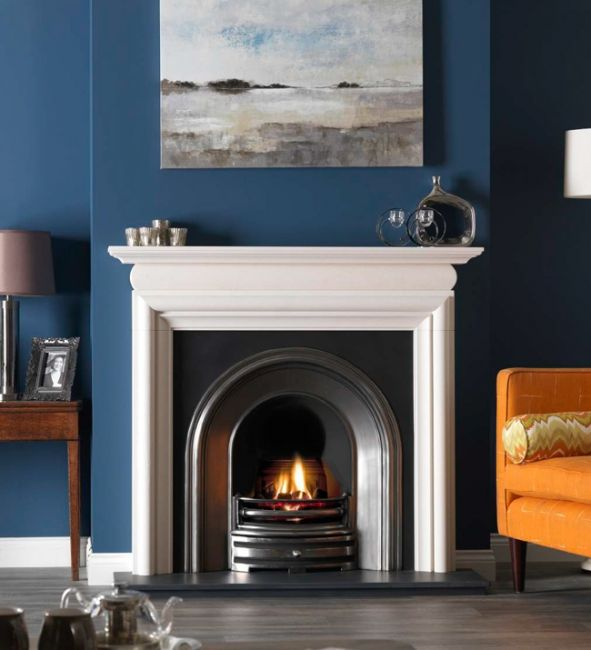 Once you've made your new fireplace larger it's time to select a new surround and fireplace.