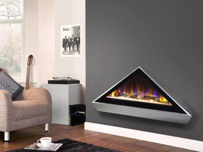 Celsi Electriflame VR Louvre Electric Fire for media walls