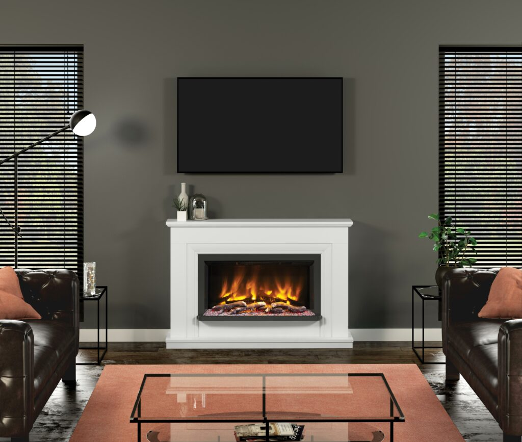 The Lavina Timber Electric Fireplace suite will make the perfect focal point for your living room.