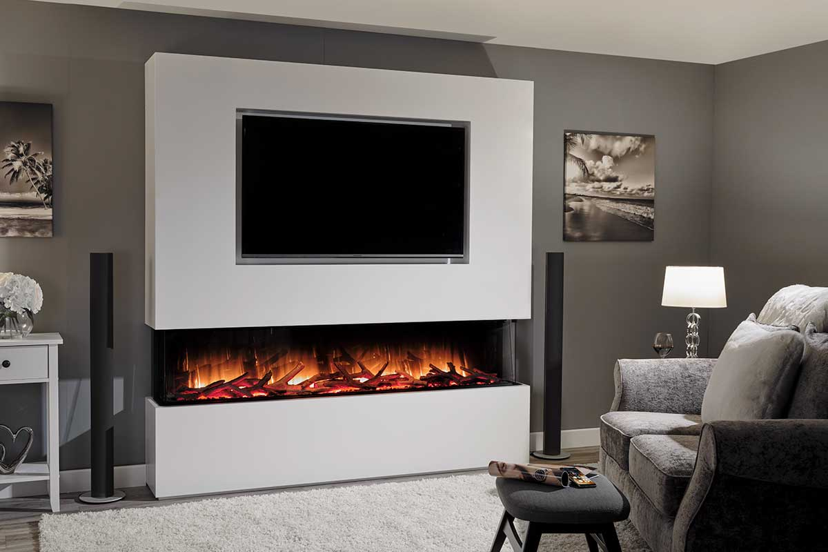 The Flamerite Glazer 1800 fireplace is not only visually stunning but is absolutely packed with the latest technology.