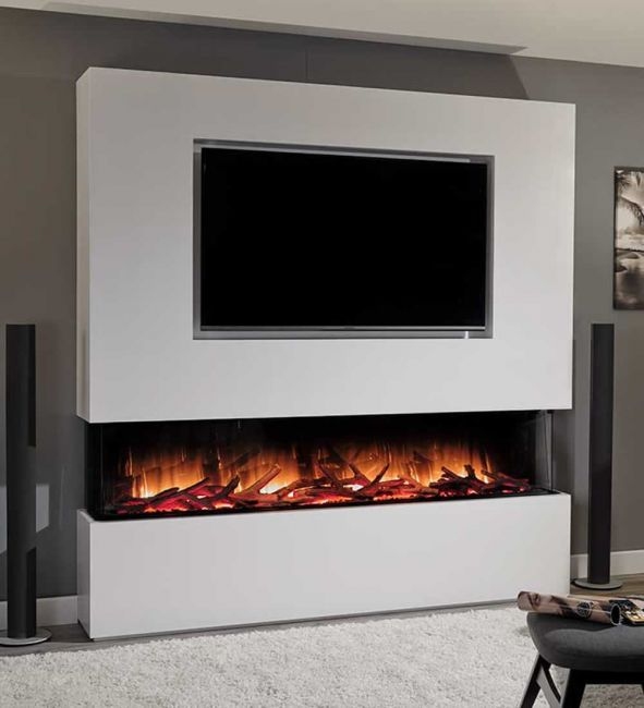 Flamerite Glazer 1300 3-2-1 Electric Inset Wall Fire