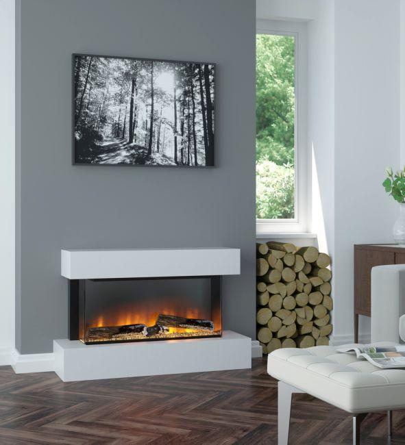 OER Alpine Floor Standing Electric Fireplace Suite