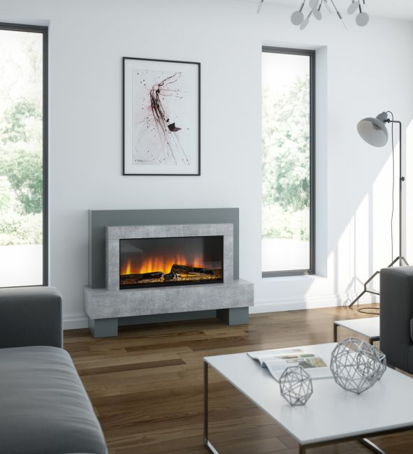 OER California Electric Fireplace Suite with Base