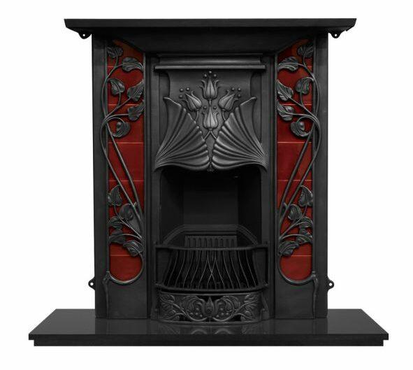 Carron Toulouse Tiled Cast Iron Combination Fireplace