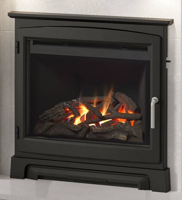 """Elgin & Hall Chollerton 22"""" Inset Gas Fire with Cast Stove Fascia"""