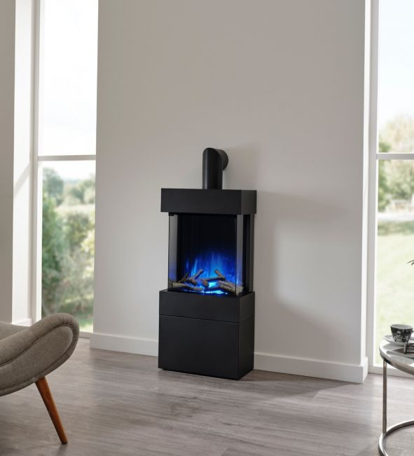 Flamerite Luca 450 Free Standing Electric Fire with Log Box
