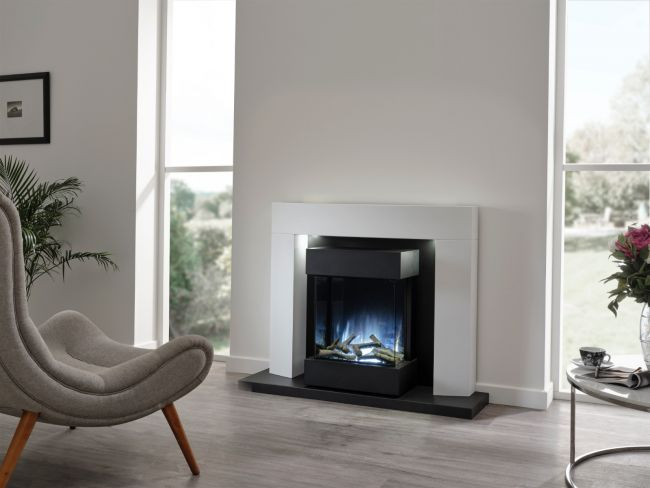 Flamerite Luca 450 Free Standing Electric Fireplace Suite