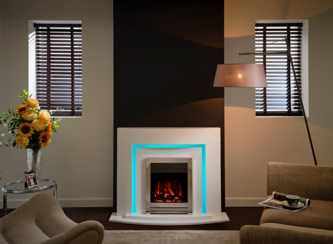 Flamerite Virtue Free Standing Electric Fireplace Suite