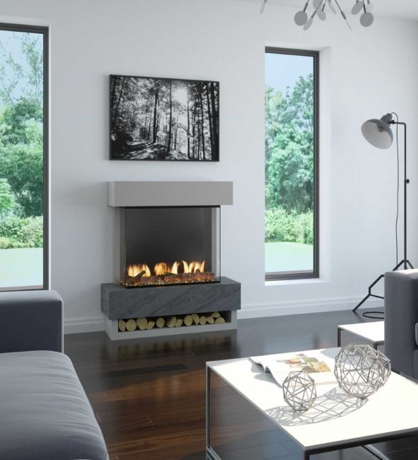 OER Icon Electric Fireplace Suite